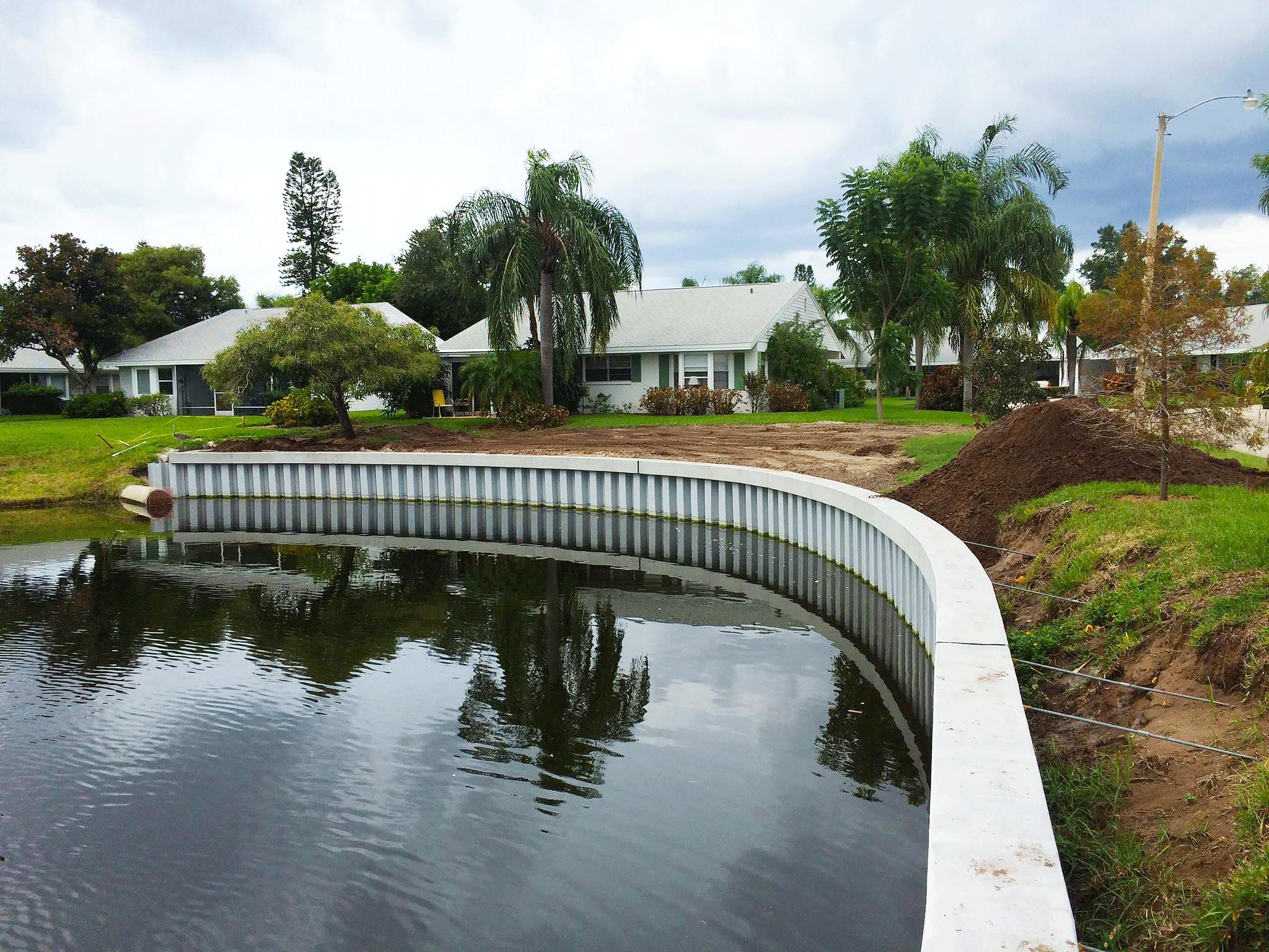 Seawall Installation Success Story in Bradenton Florida