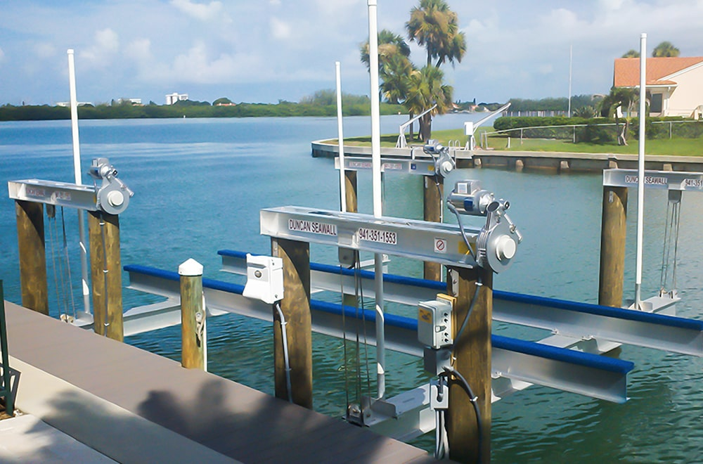 boat lift dock water seawall