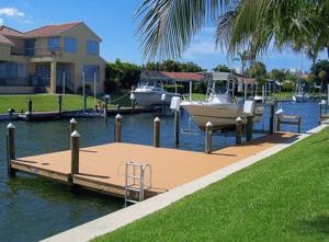 docks in the summer sun