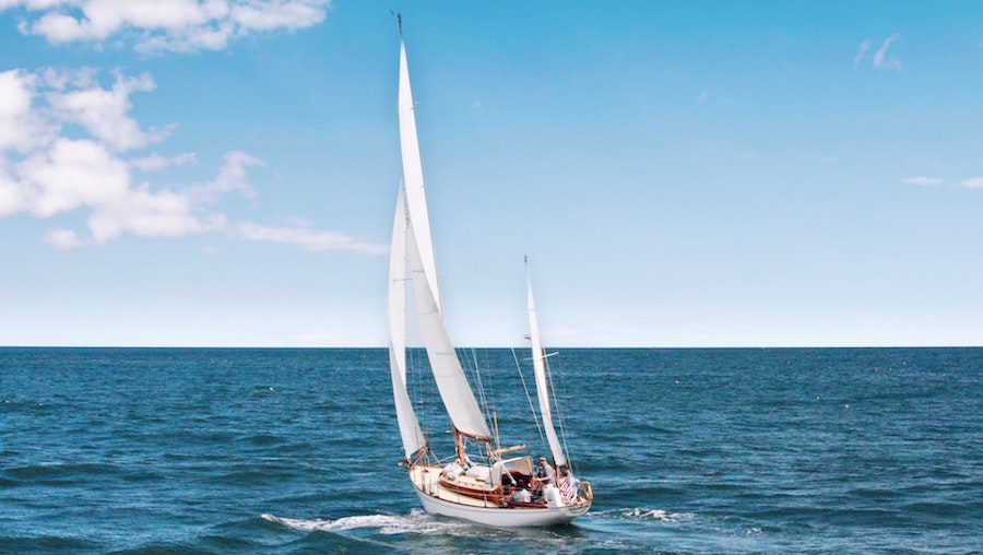 sailboat on blue waters
