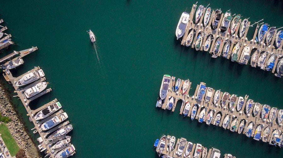 boats docks at boats slips