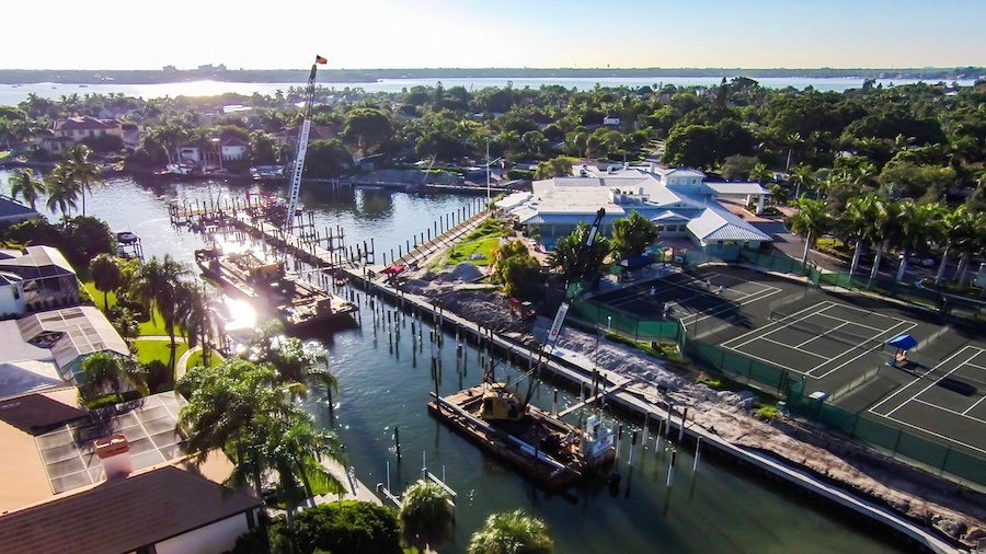 Commercial Marine Construction Project in Sarasota, Florida