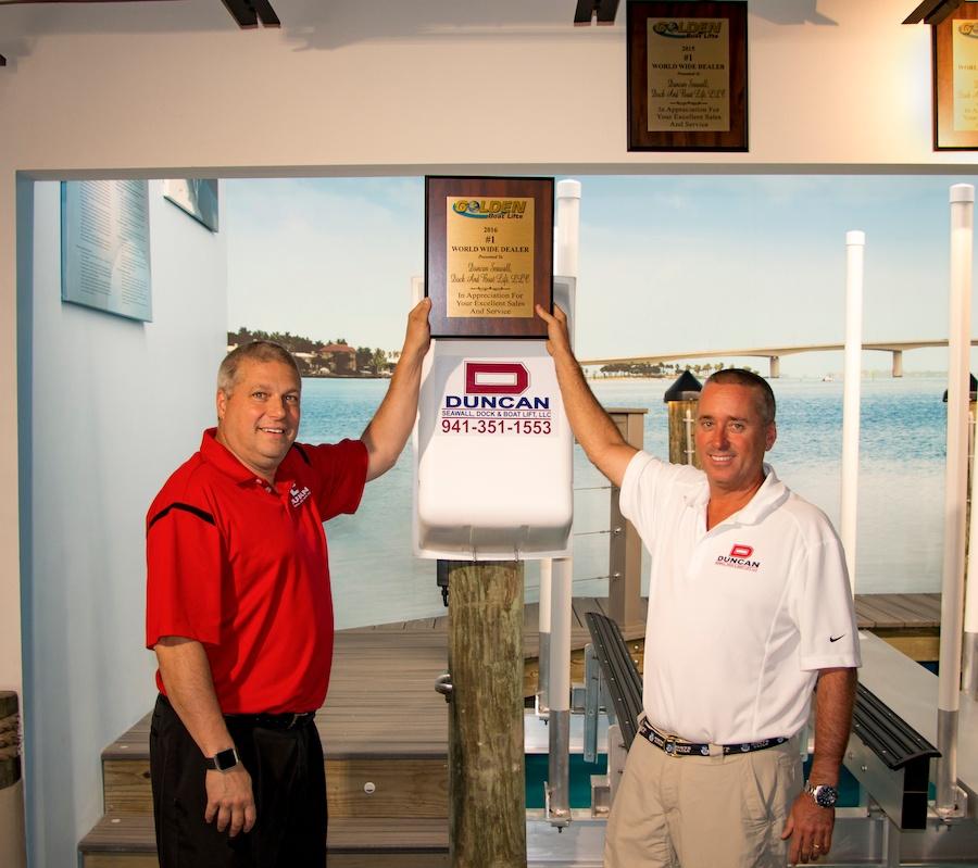 Duncan Named #1 Golden Boat Lift Dealer & Installer in the World