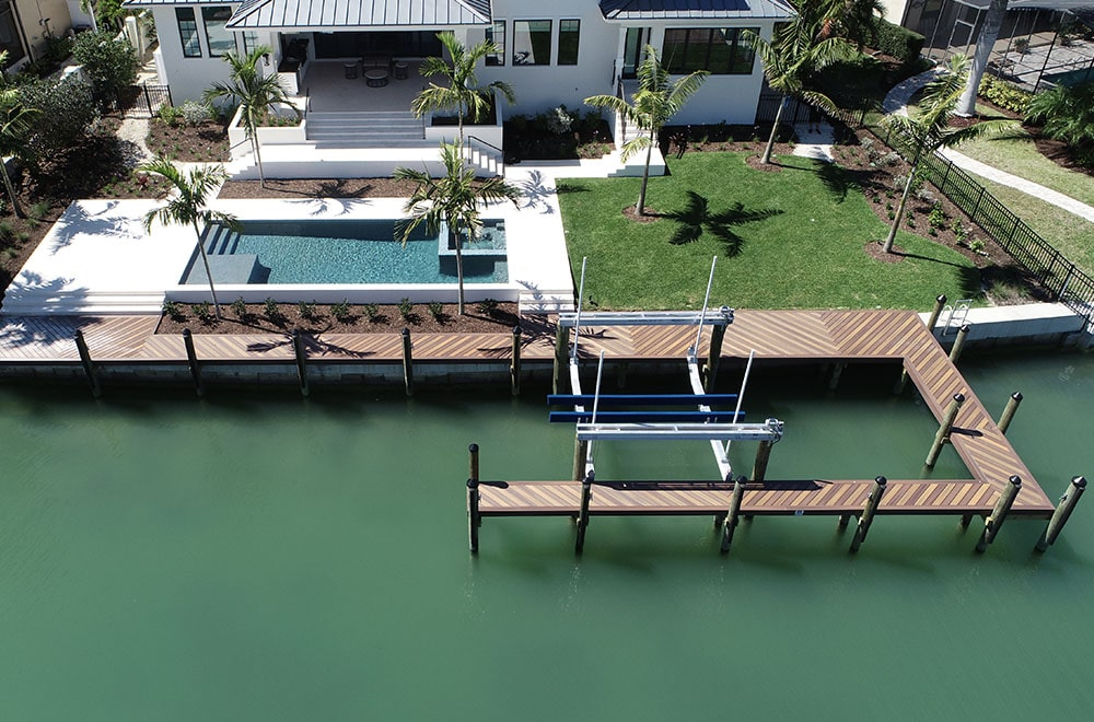 Full-service marine construction with electrical expertise. dock and boat lift on Florida gulf coat
