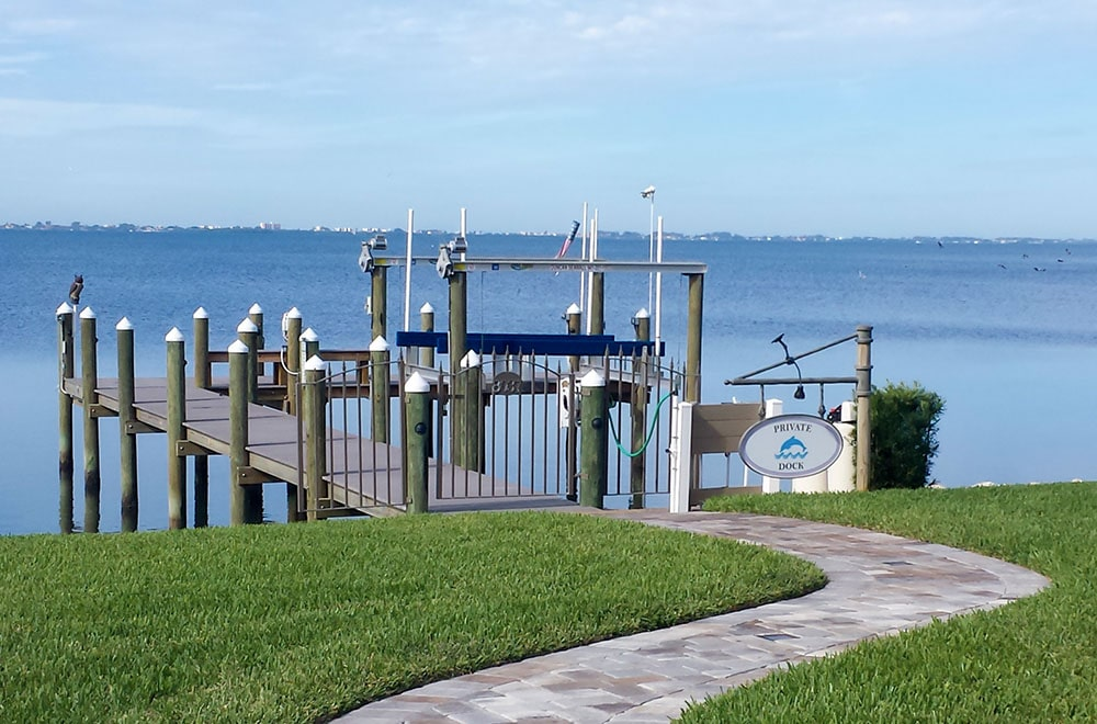 Dock building for marine contractors in Sarasota, Florida