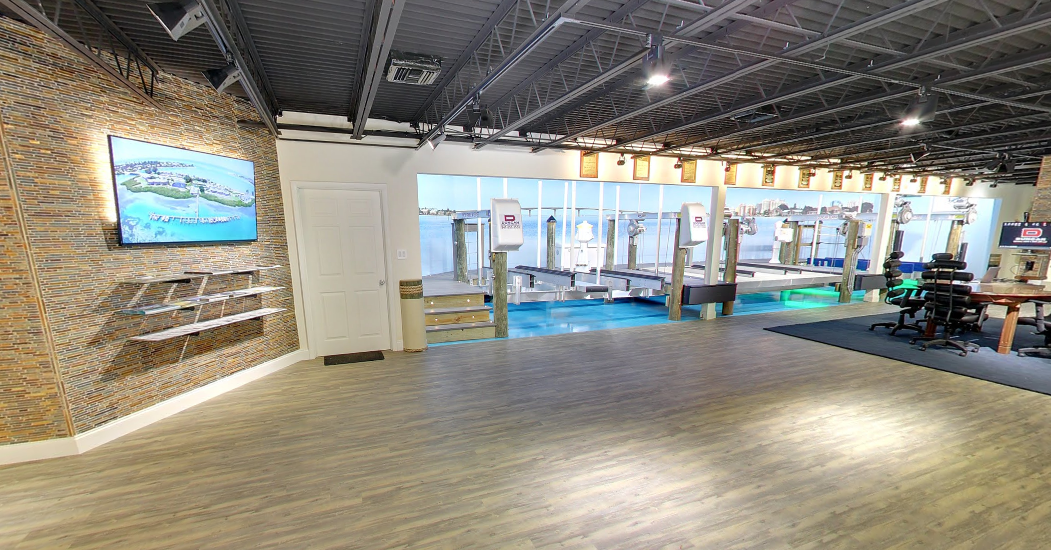 Boat Lift, Dock, Seawall and Marine Construction Showroom in Sarasota